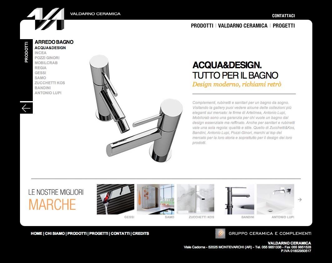 Gruppo Ceramica E Complementi.Eleganza In Web Website Valdarno Ceramica Torelli Marketing